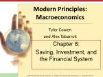 Chapter 8: Saving, Investment, and the Financial System