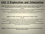 Unit 3 Exploration and Colonization