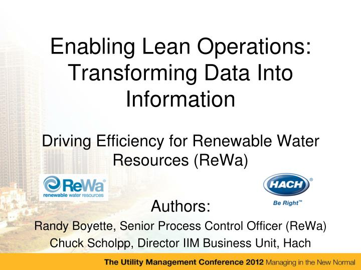Transformation Process In Operations Management Ppt