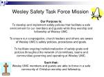 Wesley Safety Task Force Mission