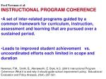 Fred Newman et al: INSTRUCTIONAL PROGRAM COHERENCE