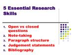 5 Essential Research Skills