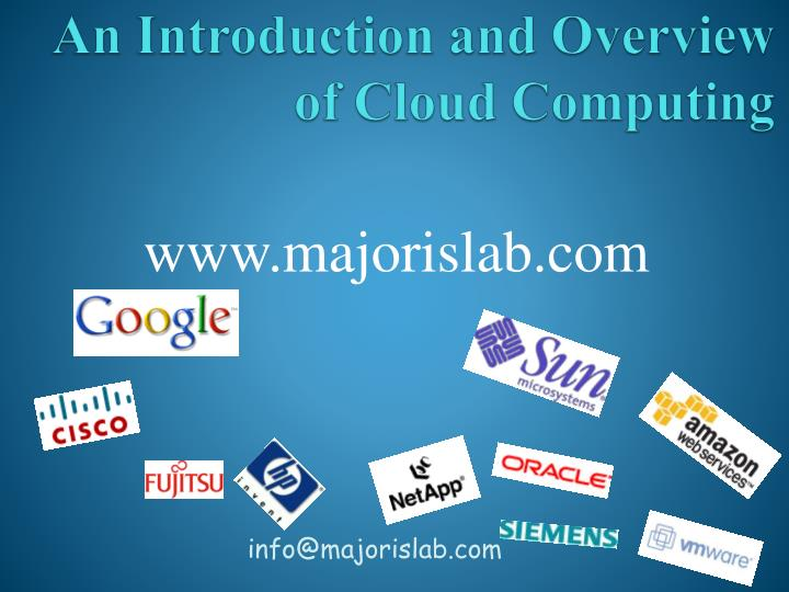an introduction and overview of cloud computing n.