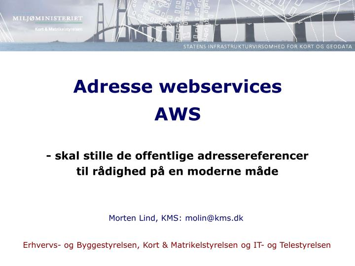 adresse webservices aws n.