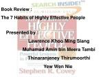 Book Review :  The 7 Habits of Highly Effective People