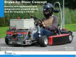 Brake-by-Steer Concept