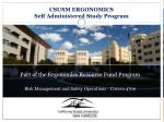 Part of the Ergonomics Resource Fund Program