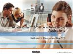 Alcatel OmniPCX Office – Release 5.0 Applications