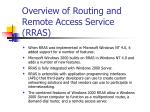 Overview of Routing and Remote Access Service (RRAS)