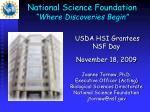 """National Science Foundation """"Where Discoveries Begin"""""""