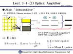 Lect. 3-4-(1) Optical Amplifier