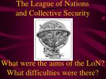 The League of Nations and Collective Security