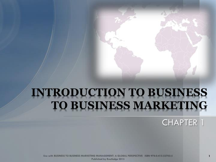 introduction to business to business marketing n.