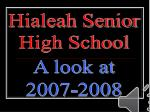 Hialeah Senior High School