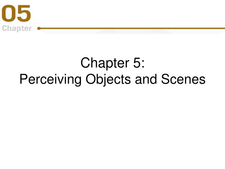 chapter 5 perceiving objects and scenes n.
