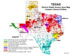 TEXAS Electric Retail Service Area Map Investor-Owned Utilities