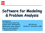 Software for Modeling & Problem Analysis