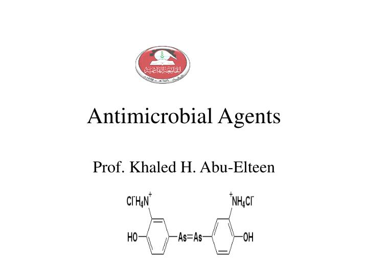 antimicrobial agents n.
