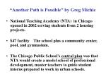 """Another Path is Possible"" by Greg Michie"