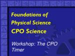 CPO Science Workshop: The CPO Timer