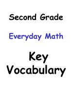 Second Grade Everyday Math Key Vocabulary