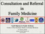 Consultation and Referral  in  Family Medicine