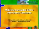 Matching Conducted EMI to International Standards