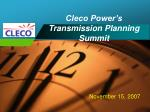 Cleco Power's Transmission Planning Summit