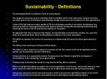 Sustainability - Definitions