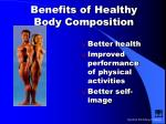 Benefits of Healthy Body Composition
