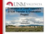 Evaluation of UNM Valencia's STEM Transfer & Graduation Project