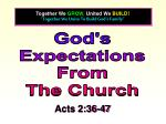 """""""Together We Unite To Build God's Family"""""""