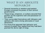 What is an Absolute Monarch?