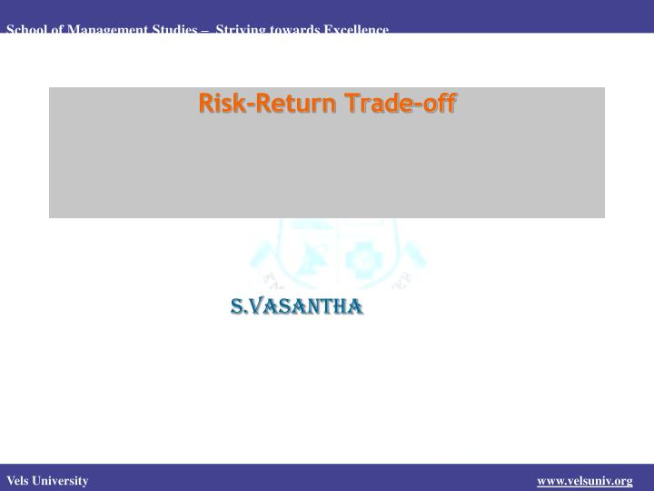 risk return trade off n.