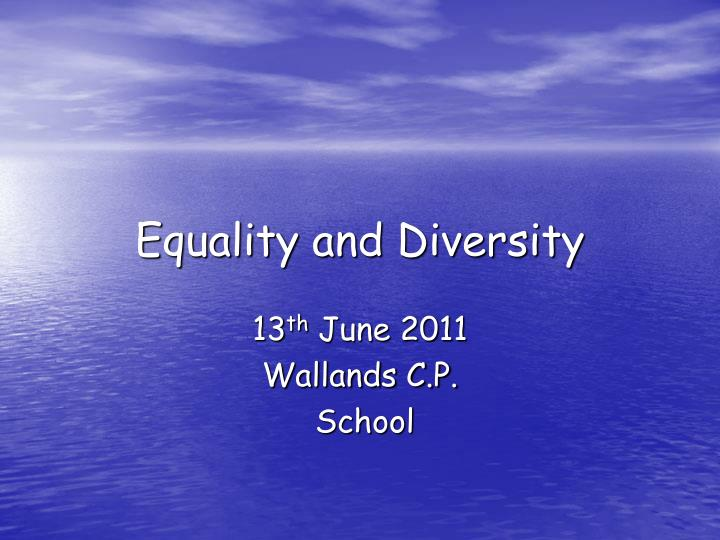 equality and diversity n.