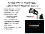 Create a Water Awareness / Conservation Poster for  SWAsia