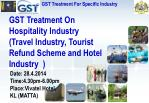 GST Treatment On Hospitality Industry