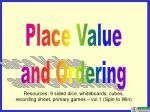 Place Value and Ordering