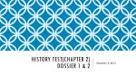 History test(Chapter 2) Dossier 1 & 2