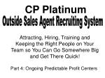 Outside Sales Agent Recruiting System