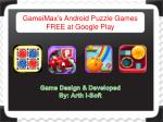 GameiMax's Android Puzzle Games FREE at Google Play