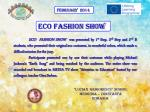 ECO FASHION SHOW