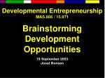 Developmental Entrepreneurship MAS.666 / 15.971