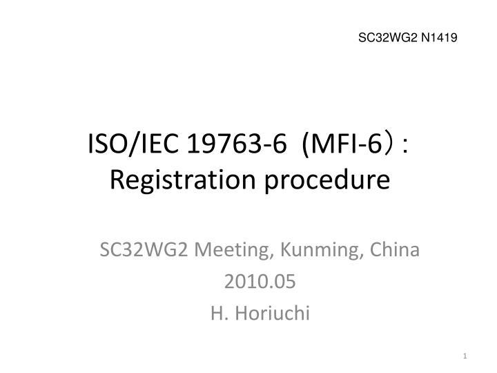 iso iec 19763 6 mfi 6 registration procedure n.