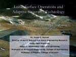Lunar Surface Operations and Adaptive Structures Technology