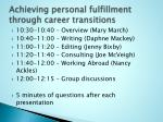 Achieving personal fulfillment through career transitions