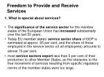 Freedom to Provide and Receive Services
