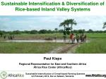 Sustainable Intensification & Diversification of Rice-based Inland Valley Systems Paul Kiepe