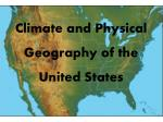 Climate and Physical Geography of the United States