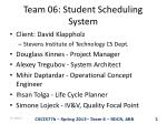 Team 06: Student Scheduling System